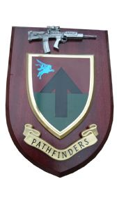Pathfinders ( old style) Regiment Military Wall Plaque + Pewter SA80